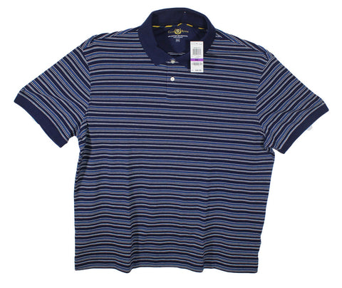 NEW Club Room Striped Polo Shirt Size 2XL & 3XL - 5 Colors