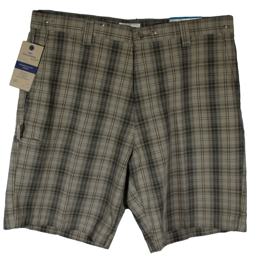 NEW Dockers Big Box Plaid Casual Shorts - Size 36, 40 & 42 - 4 Colors