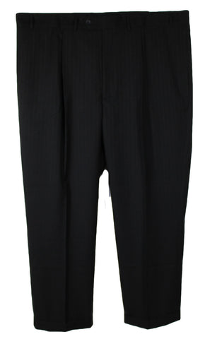 NEW Geoffrey Beene Black with Dark Pinstripes Dress Pants Size 46Wx32L & 44Wx30L