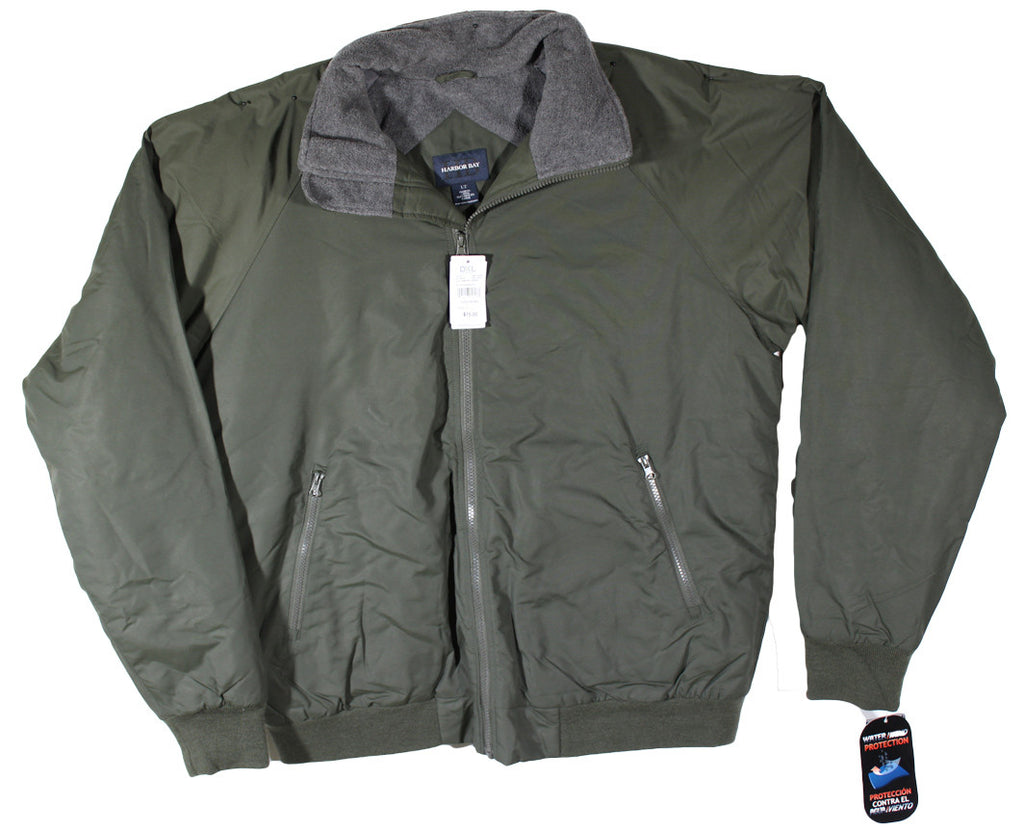 NEW Harbor Bay Hunter Green Jacket Size LT
