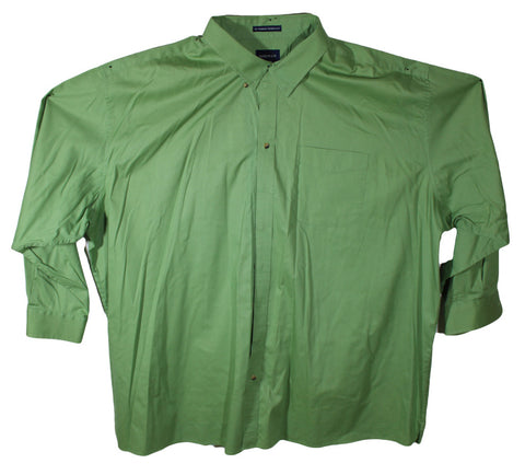 Harbor Bay Green Long Sleeve Dress Shirt Size 5XL