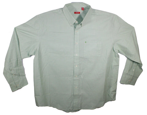 NEW Izod Seacrest Green Solid Long Sleeve Shirt Size 2XL