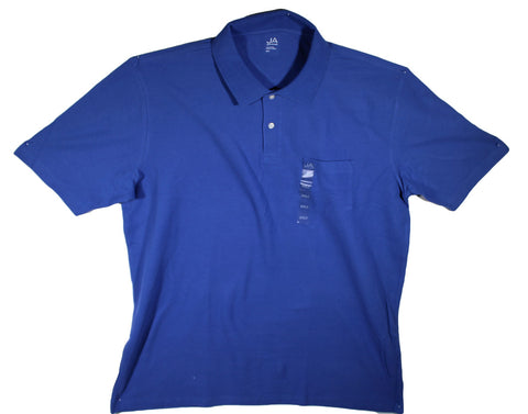 NEW John Ashford Pocket Polo Shirts Sizes 2XL, 2XLT, 3XL, 3XLT, 4XL & 4XLT - 3 Colors