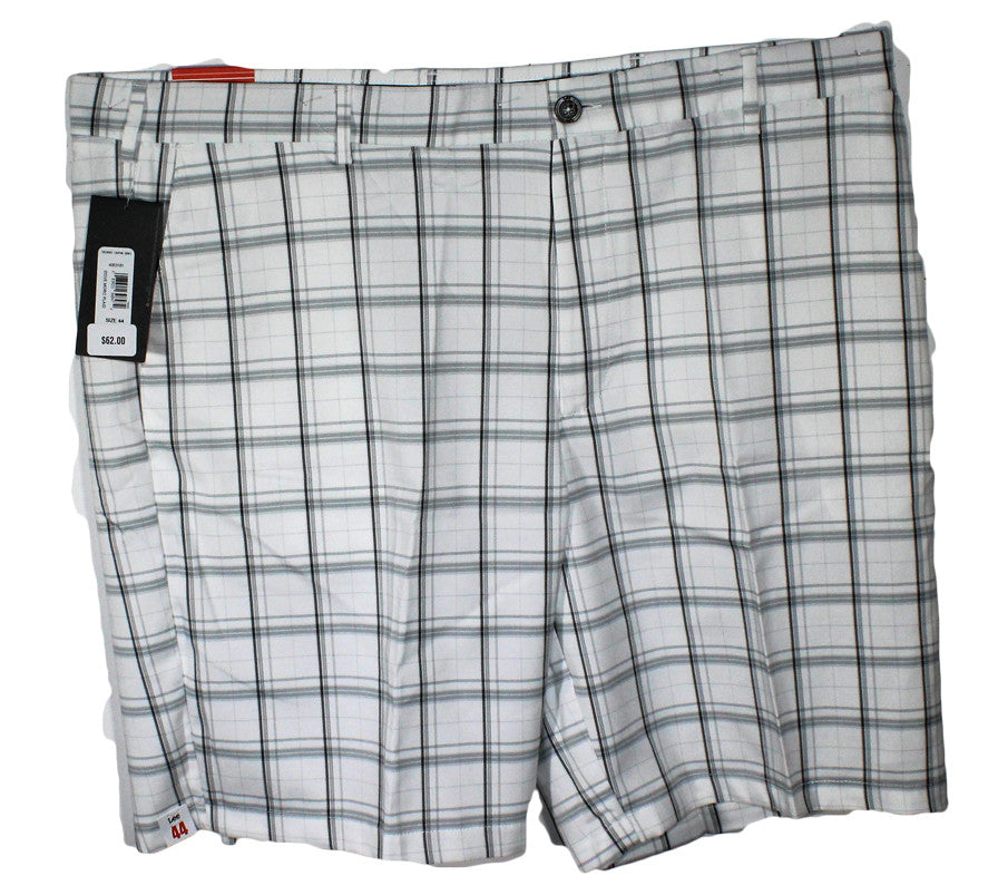 NEW Lee White Plaid Casual Shorts Sizes 44, 48, 50 & 52