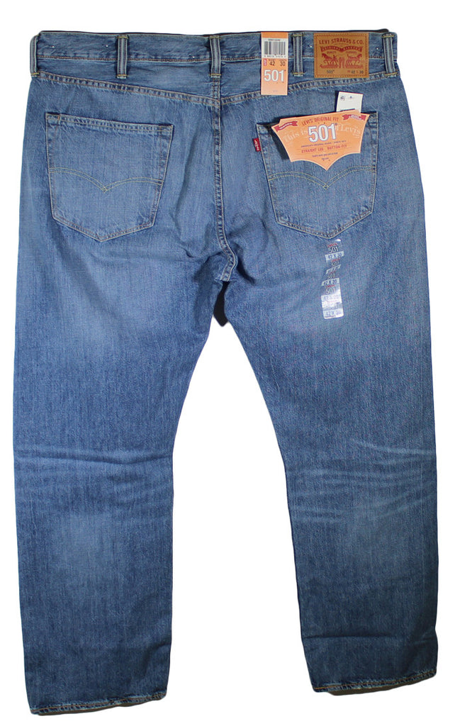 NEW Levi's 501 Original Fit Straight Leg Blue Jeans Sizes 42 & 44
