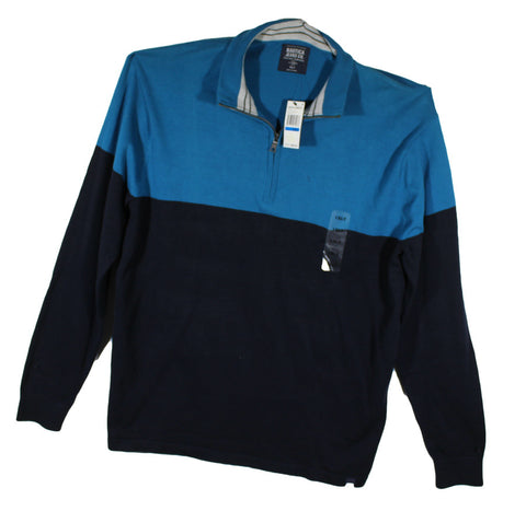 NEW Nautica Bluish Green and Black 1/4 Zip Fleece 1XLT