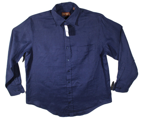 NEW Oak Hill Dark Blue Long Sleeve Casual Shirt Size XL