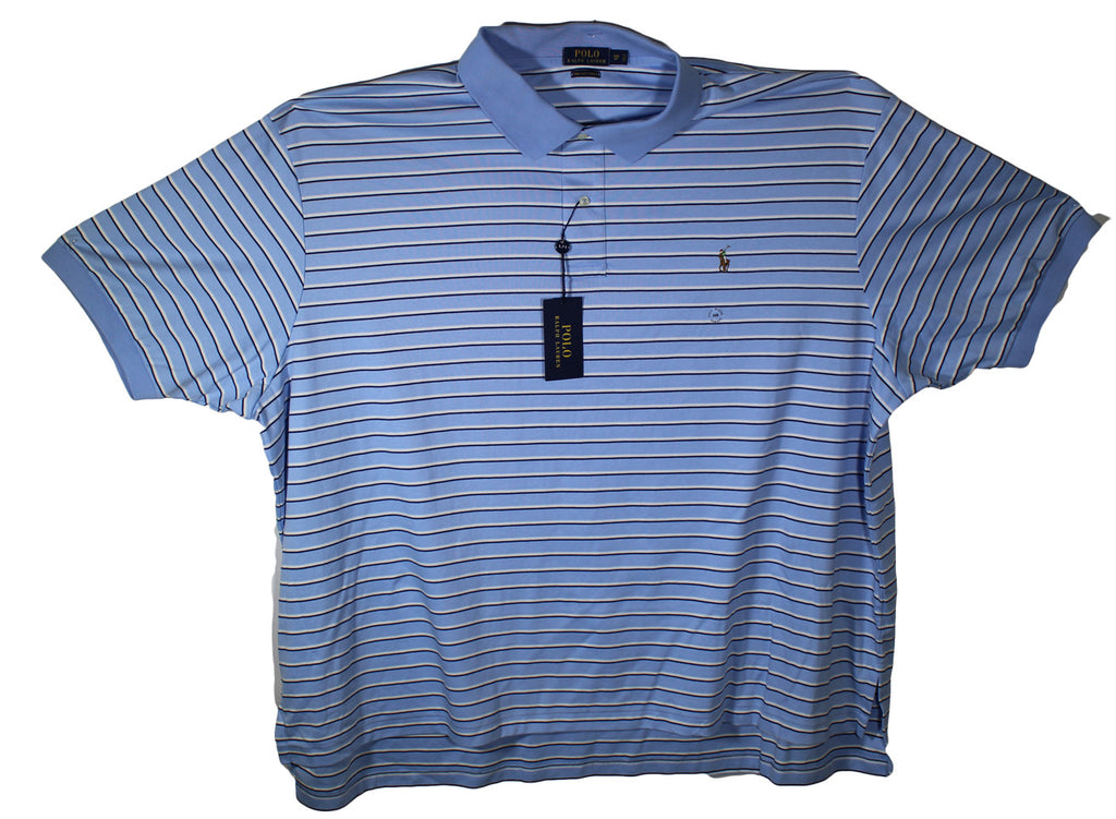 NEW Polo by Ralph Lauren Striped Polo Blue, Black & White Size 5XL