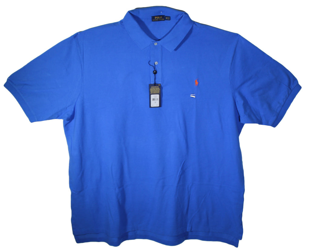 NEW Polo by Ralph Lauren Solid Color Polos Sizes XL, 2XL, 2XLT, 3XL, 3XLT, 4XL - 13 Colors Avaliable