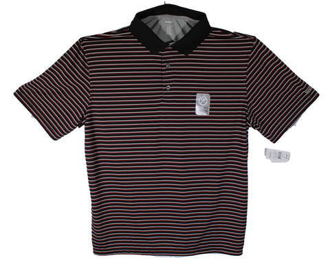 NEW Reebok Black & Red Stripe Performance Polo Sizes XL & 1XL