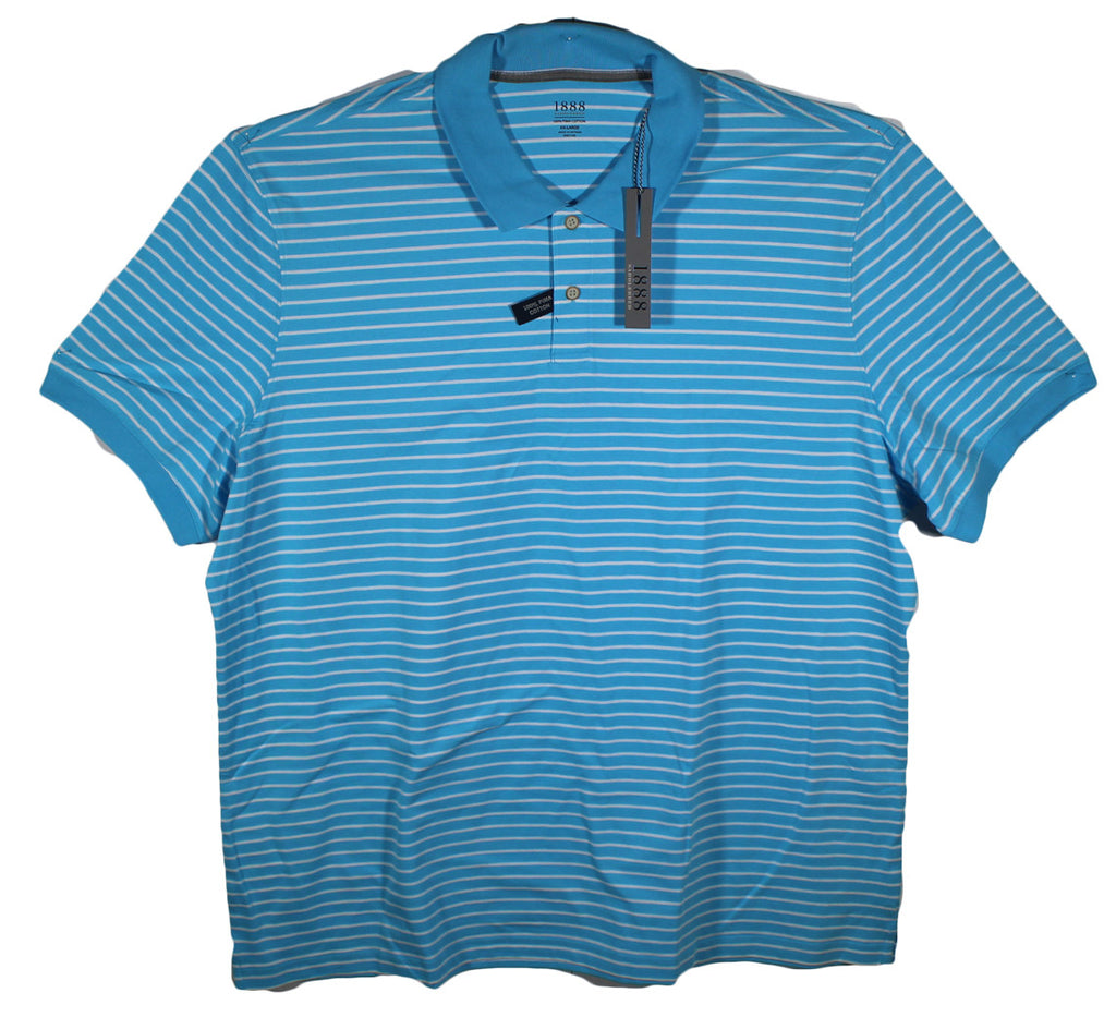NEW 1888 Saddlebred Striped Polo Shirts Size 2XL - 3 Colors