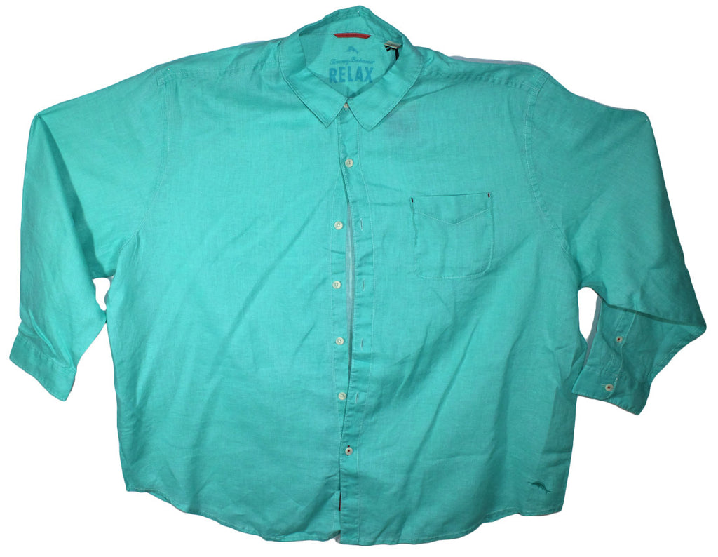 NEW Tommy Bahama Turquoise Long Sleeve Shirt Size 4XL