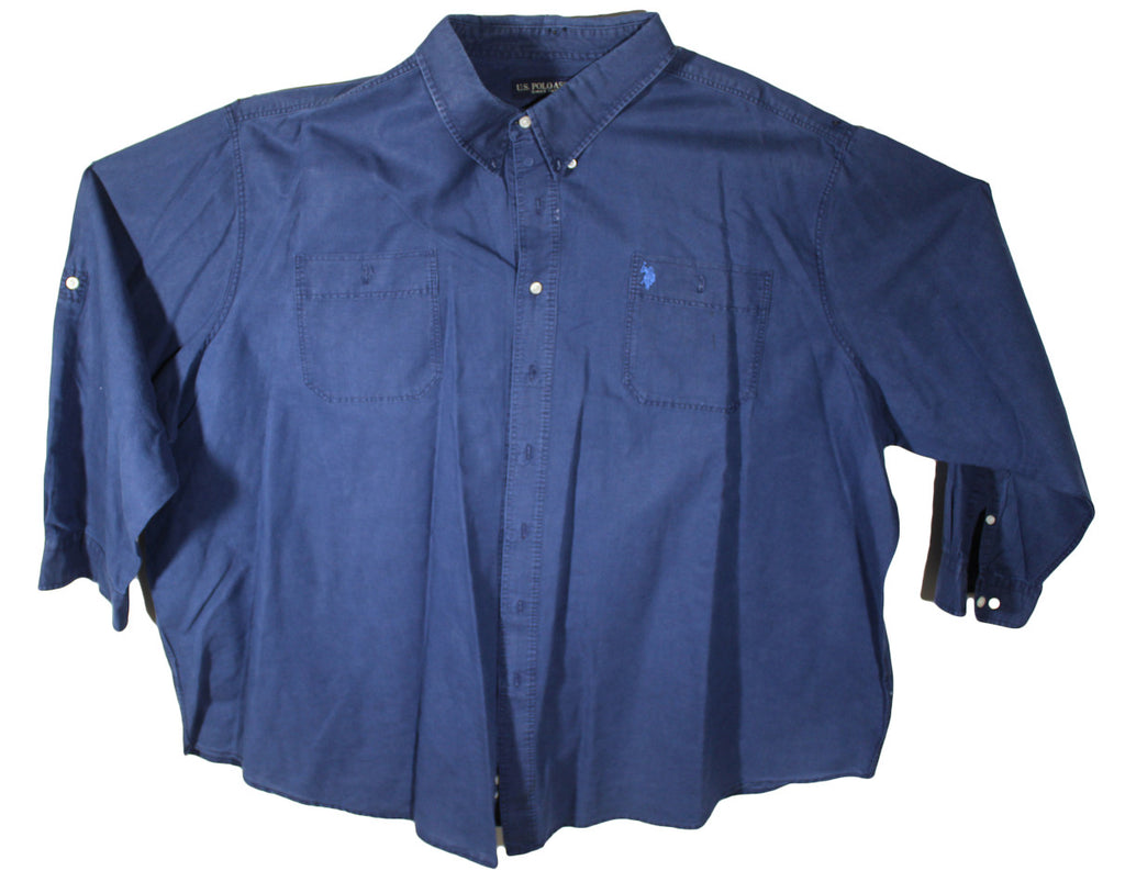 US Polo Assn Blue Long Sleeve Shirt Size 5XL