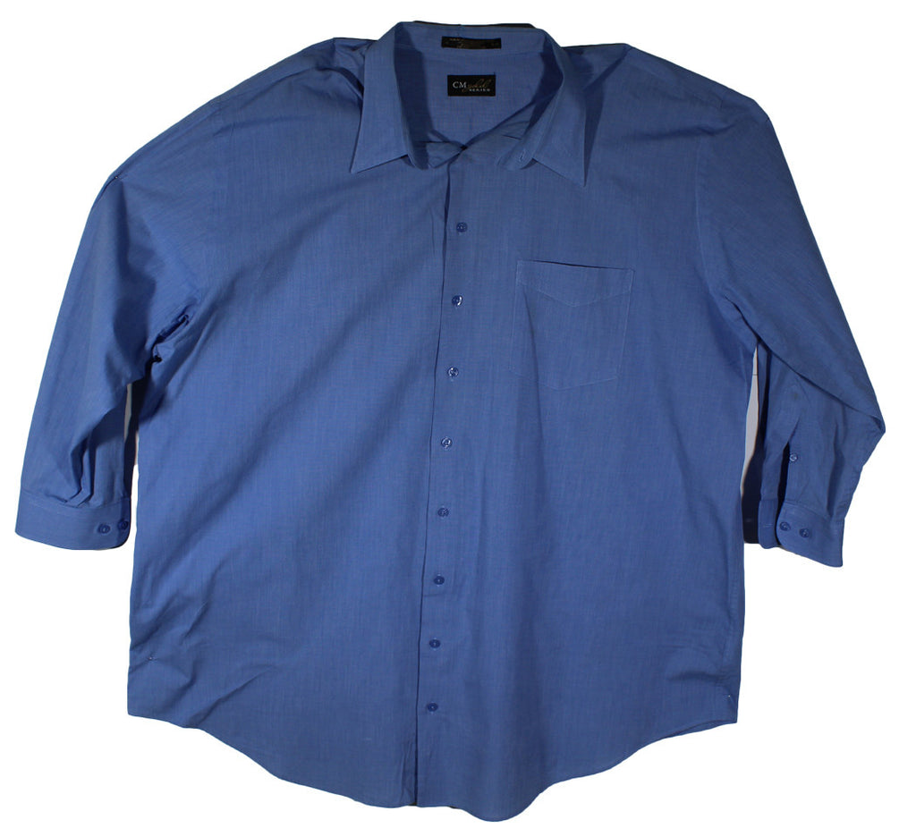 Casual Male Gold Blue Long Sleeve Dress Shirt Neck Size 20 & Sleeve Length 35/36