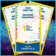Cineplex Odeon - Child Admit One Ticket