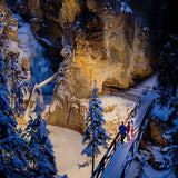 Banff Tours - Johnston Canyon Evening Icewalk