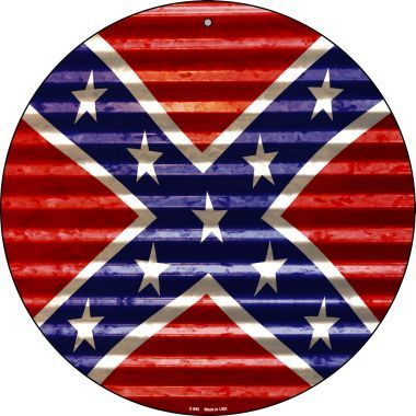 Round Confederate High Gloss Sign