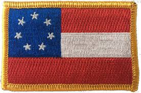 "Stars & Bars Embroidered Patch - 2.5"" x 3.5"""