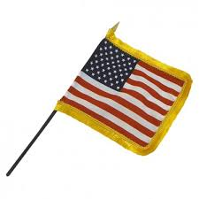 Miniature United States Flag - Fringed
