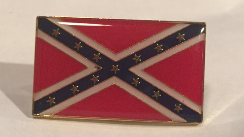 Rectangular Confederate Flag Pin (Two)