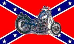 Confederate Flag with Motorcycle