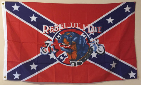 """Rebel Till I Die"" Confederate Flag"