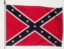 "Confederate Stick Flag 12"" x 12"" (three flags)"