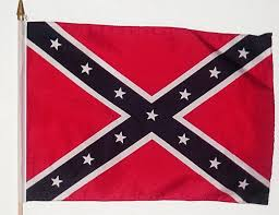 "12"" x 18"" Confederate Stick Flags"