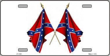 Crossed Confederate Flags License Plate
