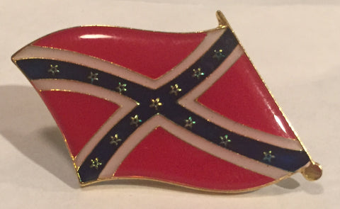 Waving Confederate Flag Pin (Two)