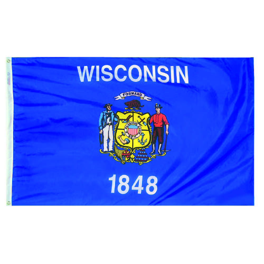 Wisconsin State Flag - Nylon