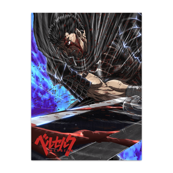 Berserk Guts Dragonslayer Poster
