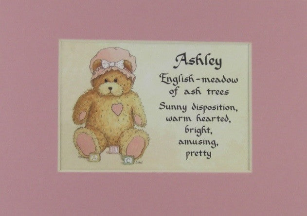 Baby Name Girl Meaning 5x7 Matted Gift McDarlins