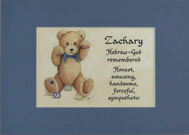 Baby name meaning for boy matted 5x7 gift mcdarlins mcwags baby name meaning for boy matted 5x7 gift negle Images