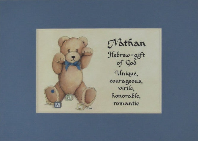 Baby name meaning for boy matted 5x7 gift mcdarlins mcwags baby name meaning for boy matted 5x7 gift negle Image collections