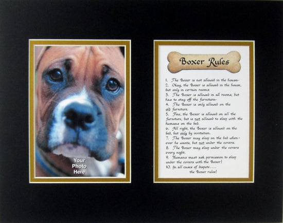 Boxer Rules Pet Dog Wall Decor Gift for the Dog Lover – McDarlins ...