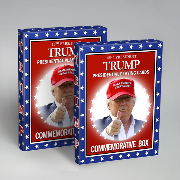 TRUMP Playing Cards - Presidential 2 Pack -  Limited Edition - 25% Off