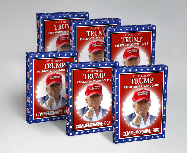 Original Trump Playing Cards Presidential 6 pack • 42% Discount