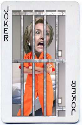 Hilary should be behind bars! Joker would be a step up for her.