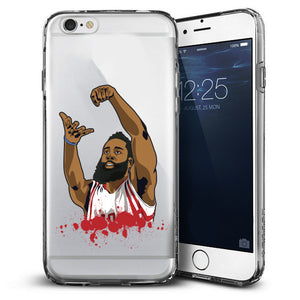 """The Beard"" Clear iPhone Case"