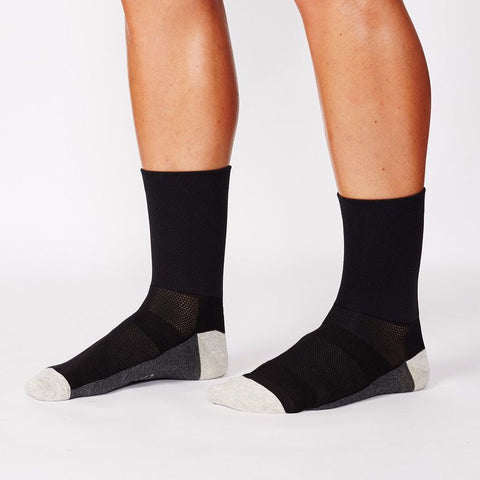 Camino Flash - Black Cycling Socks