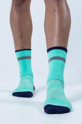 Mirage - Pool Blue Cycling Socks