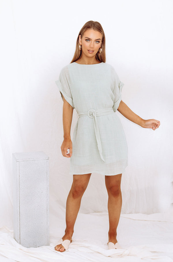 SUMMER NIGHTS DRESS SAGE