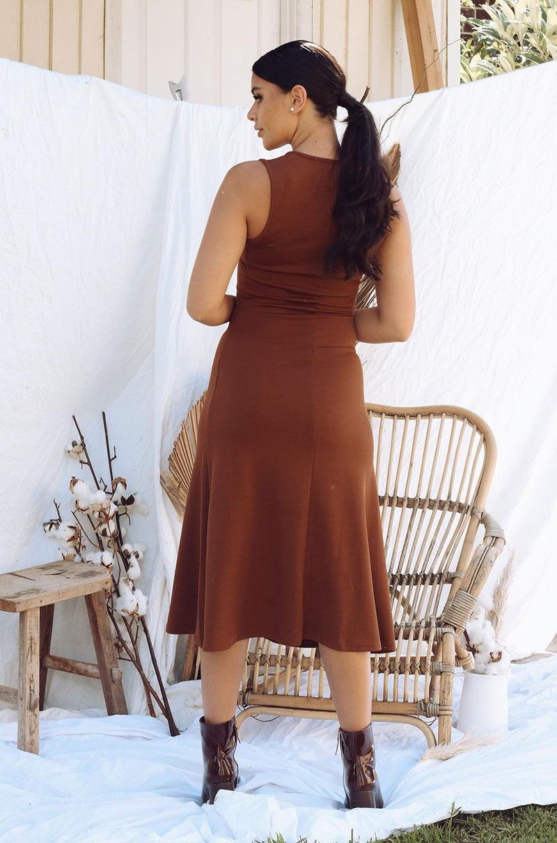 EUPHORIA LOVE DRESS BROWN