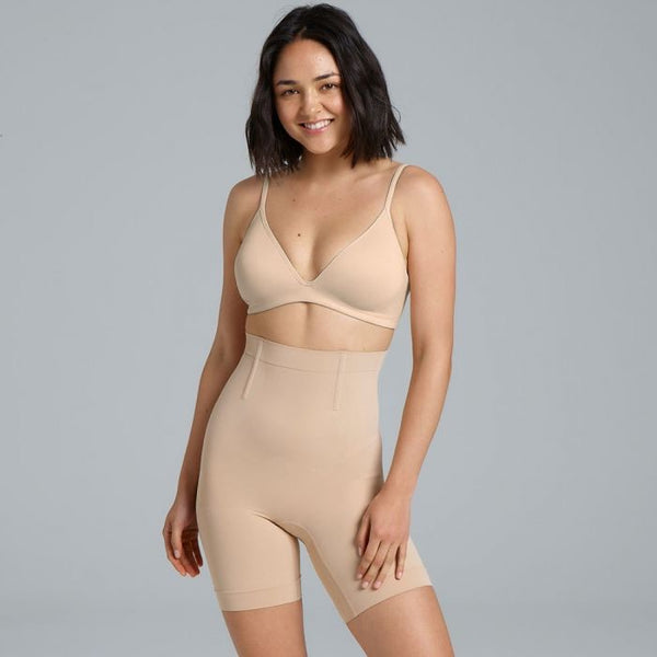 CINCH HI WAISTED SHORT : ROSE BEIGE