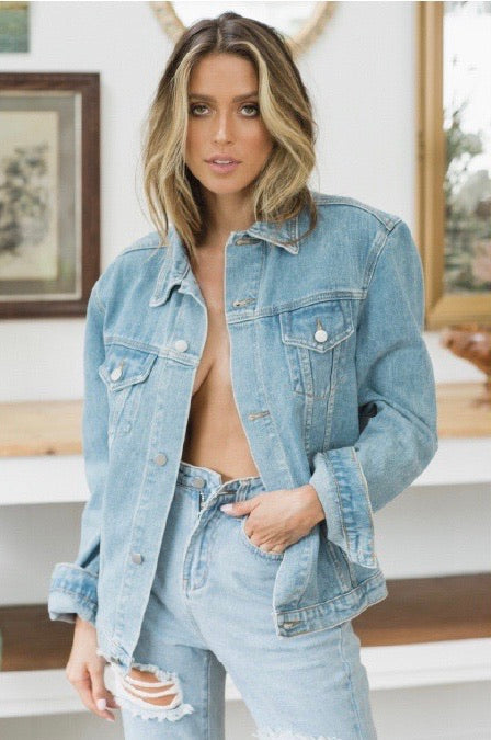PENNY LANE DENIM JACKET VINTAGE DENIM