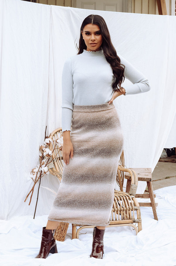 ORNELLA KNIT MAXI SKIRT