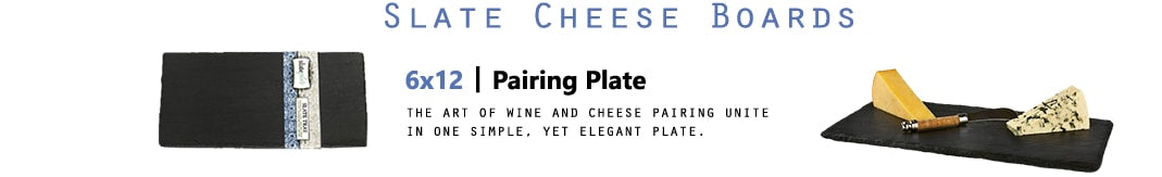 6x12 pairing plate - the art of wine and cheese pairing unite in one simple, yet elegant plate