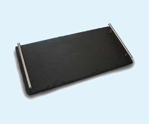 "10"" x 20"" Handled Slateplate Serving Trays"