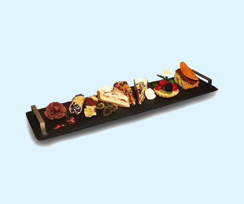 "Slate Serving Tray With Handles - 6"" x 22"""